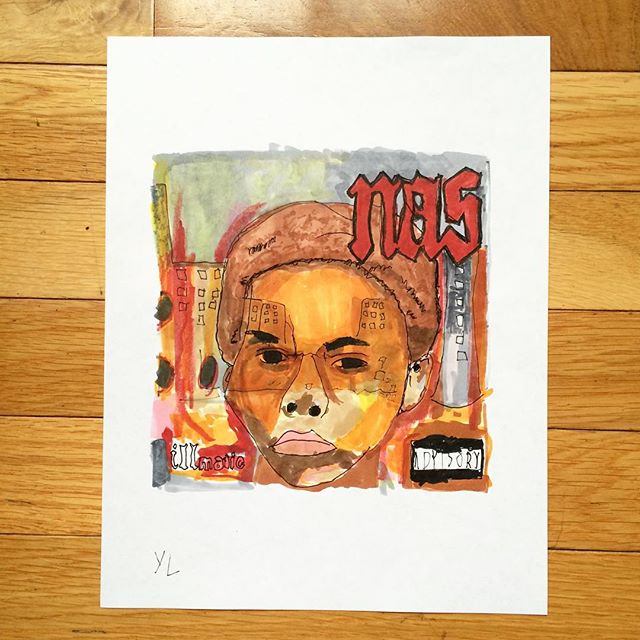 "Illmatic signed 8.5x11"" prints now available and only $25 bucks on YUNGLENOX.BIGCARTEL.COM (link in bio)"