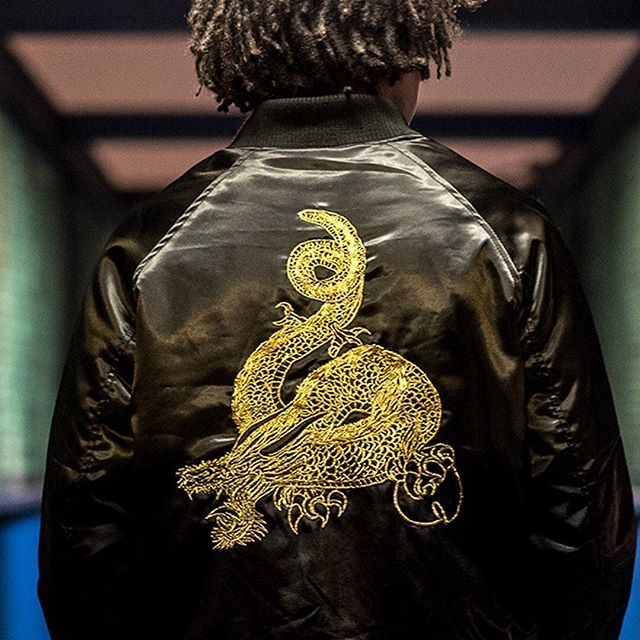 We're creating a fashion line hip hop heads have been waiting for. Here's a close up of the metallic gold ornate embroidery on the satin jacket. The satin jacket goes on pre-sale October 19th. Sign up at www.36chambers.com for more info. 📷 @tlands_